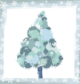 winter background with a pine tree and snowflakes vector image vector image