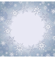 Winter decorative background with snowflakes vector image vector image