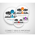 Worldwide communication and social media concept vector image vector image