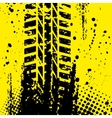 Yellow tire track wallpapper vector image vector image