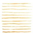 Watercolor stripes strokes orange brushes vector image
