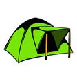 blue dome tent icon icon cartoon vector image