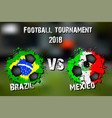 4297 - brazil vs switzerland vector image vector image