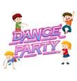 a dance party logo vector image vector image