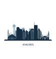 ankara skyline monochrome silhouette vector image vector image