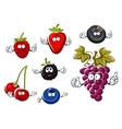 Assorted isolated fresh cartoon berries vector image vector image