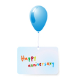 balloon with happy anniversary vector image vector image