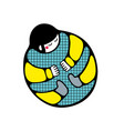 beetle man lying on a back funny vector image
