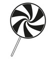 black and white lollipop silhouette vector image