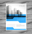 blue annual report brochure flyer poster design vector image vector image