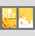 bright golden honey cover vector image