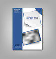 brochures book or flyer with blue design labels vector image vector image