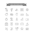 busines money and finance icon set vector image vector image
