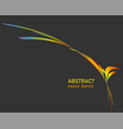 colorful splash wave banner in minimalist style vector image vector image