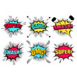 comic speech bubbles collection vector image vector image