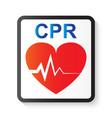 cpr cardiopulmonary resuscitation vector image