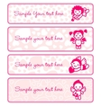 cupids banner set collection angels vector image