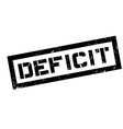 Deficit rubber stamp vector image vector image