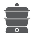double boiler glyph icon kitchen and cooking vector image vector image