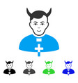 enjoy devil priest icon vector image vector image