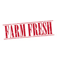 Farm fresh red grunge vintage stamp isolated on