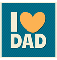 fathers day retro style design greeting card vector image