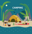 flat camping template vector image vector image