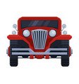 front view red retro car vintage vehicle flat vector image vector image