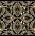 greek vintage gold 3d floral seamless pattern vector image vector image