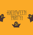halloween party card with cute ghost vector image vector image