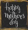 hand drawn mothers day lettering in a squared vector image