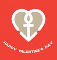 Happy Valentines Day Card with heart and a vector image vector image