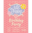 Little Princess birthday party poster or vector image vector image