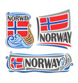 logo for norway vector image