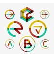 Logo set thin line clean style vector image vector image