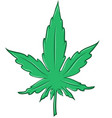 marijuana leaf cartoon isolated on white vector image vector image