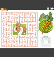 maze educational game with rabbit with carrot vector image vector image