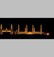 medina light streak skyline vector image vector image