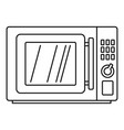 microwave icon outline style vector image
