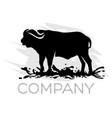 modern buffalo logo vector image