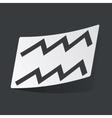 Monochrome Aquarius sticker