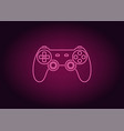 neon icon of pink joystick vector image