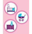 new born baby vector image vector image