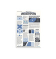 newspaper main page mockup vector image