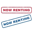 Now Renting Rubber Stamps vector image vector image