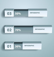 percent infographic chart design template vector image vector image