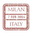 postal stamp from milan vector image vector image