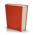 red book cover isolated on white vector image