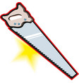 saw on white background hand saw symbol vector image vector image