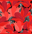 seamless bright pattern red flowers vector image vector image